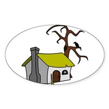 Halloween Haunted House Decal