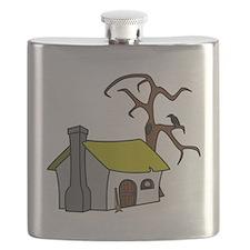 Halloween Haunted House Flask