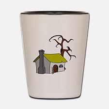 Halloween Haunted House Shot Glass