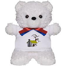Halloween Haunted House Teddy Bear