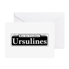 Ursulines St., New Orlea Greeting Cards (Pk of 10)