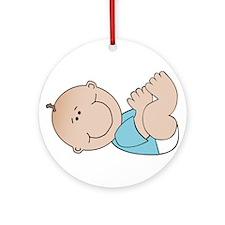 Baby Boy Ornament (Round)