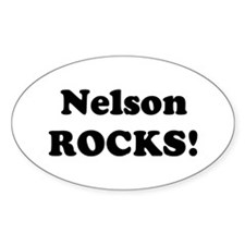 Nelson Rocks! Oval Decal