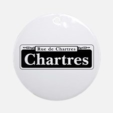 Chartres St., New Orleans Ornament (Round)
