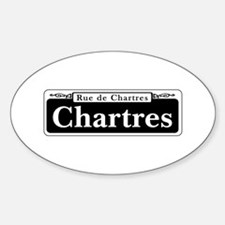 Chartres St., New Orleans Sticker (Oval)