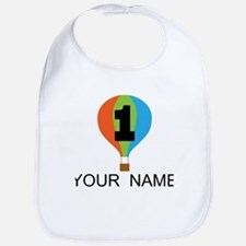 Personalized 1st Birthday Balloon Bib