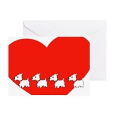 Westie Valentine Greeting Cards (Package