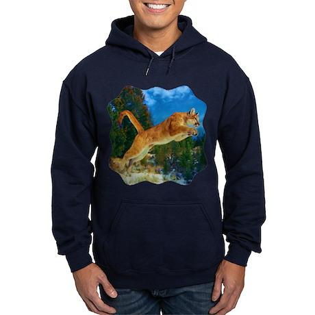 Leaping Cougar Hoodie (dark)