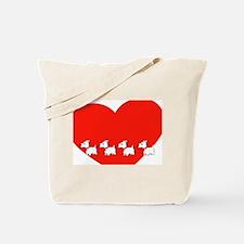 Westie Valentine Tote Bag