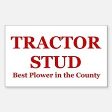 Red Tractor Stud Rectangle Decal