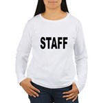 Staff (Front) Women's Long Sleeve T-Shirt
