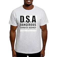 DSA Dangerous Service Agency BLACK T-Shirt