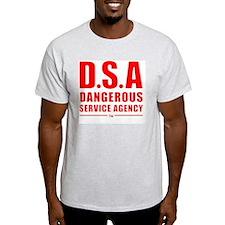 DSA Dangerous Service Agency RED T-Shirt