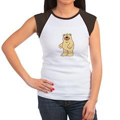 Country Style Tan Bear Women's Cap Sleeve T-Shirt
