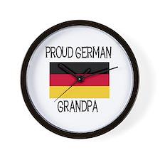Proud German Grandpa Wall Clock