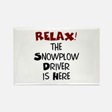 snowplow driver here Rectangle Magnet
