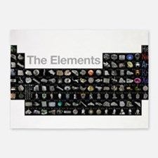 The Periodic Table of Elements 5'x7'Area Rug