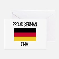Proud German Oma Greeting Cards (Pk of 10)