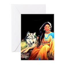 Wolfgirl Greeting Cards