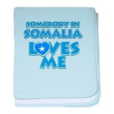 Somebody in Somalia Loves me baby blanket