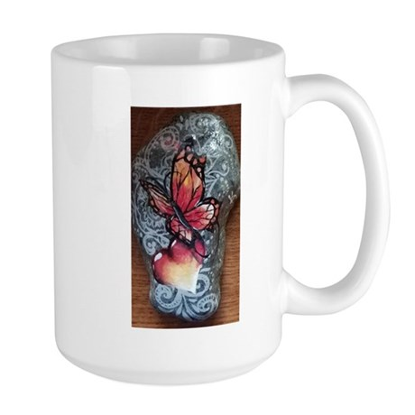 Butterfly and Heart Mugs