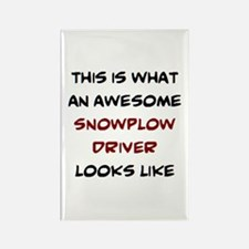 awesome snowplow driver Rectangle Magnet