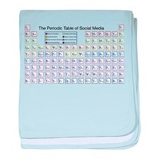 The Periodic Table of Social Media baby blanket