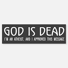 God is Dead Bumper Bumper Bumper Sticker