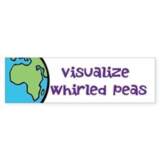 Visualize Whirled Peas -Car Sticker