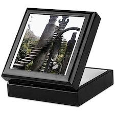 Surreal stairway Keepsake Box