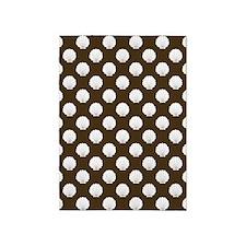 Brown | White Clamshells Seashells 5'x7'Area Rug
