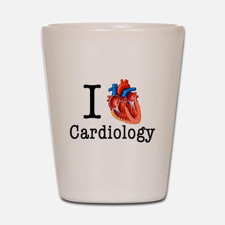 I love Cardiology Shot Glass