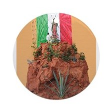 Virgin of Guadalupe Shrine Ornament (Round)