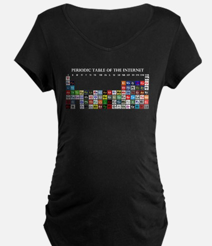 Periodic Table of Internet Maternity T-Shirt