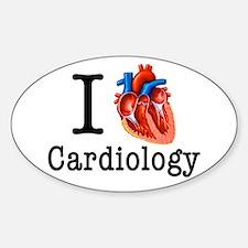 I love Cardiology Sticker (Oval)