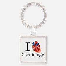 I love Cardiology Square Keychain