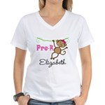 Pre-K Preschool Personalized Girls T-Shirt