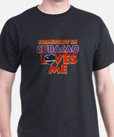 Somebody in Curacao Loves me T-Shirt