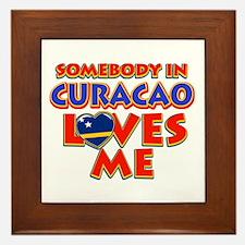 Somebody in Curacao Loves me Framed Tile