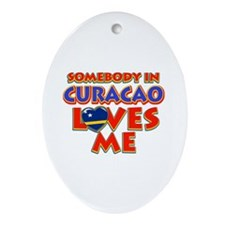 Somebody in Curacao Loves me Ornament (Oval)