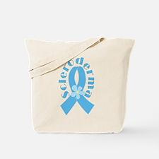 Scleroderma Light Blue Ribbon Tote Bag