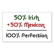 Irish & Mexican Rectangle Decal