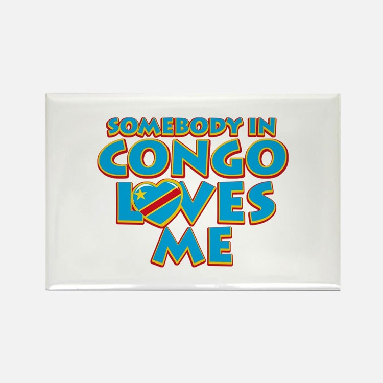 Somebody in Congo Loves me Rectangle Magnet