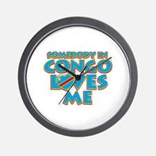 Somebody in Congo Loves me Wall Clock