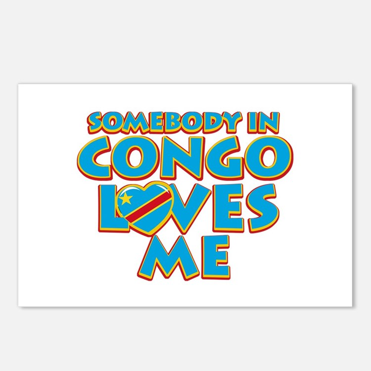 Somebody in Congo Loves me Postcards (Package of 8