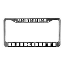 Djibouti License Plate Frame