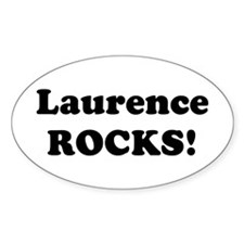 Laurence Rocks! Oval Decal