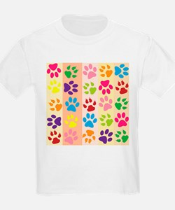 Colored Paw Prints T-Shirt
