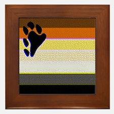 TEXTURE2 BEAR PRIDE HORIZONTA Framed Tile