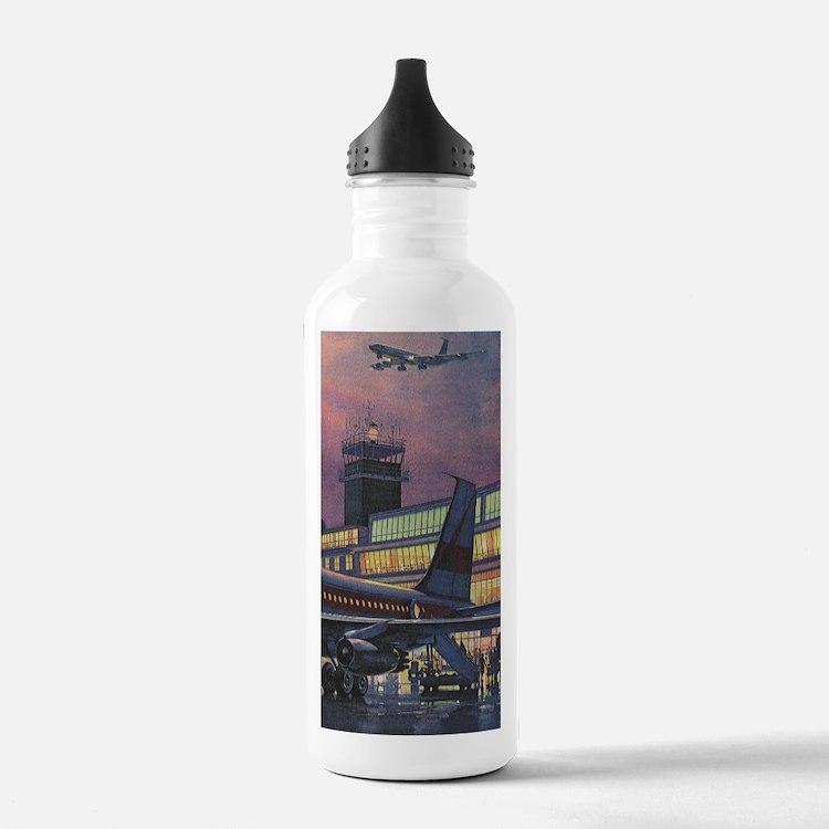 Vintage Airport Water Bottle